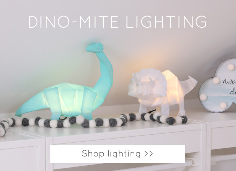 Dinosaur LED lights - shop unique and quirky lighting >>