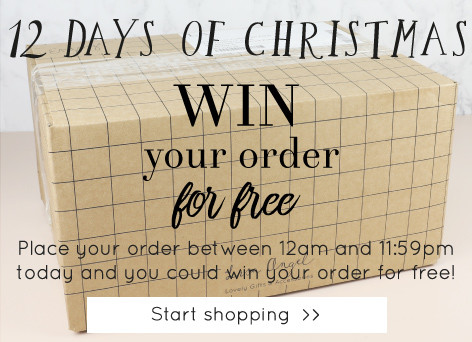 Win your order for free - Lisa Angel 12 days of Christmas >>