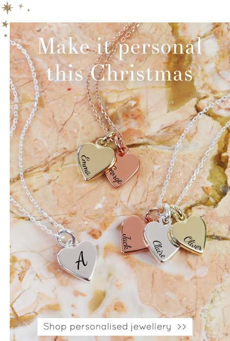 Personalised mixed metal heart necklace - Shop personalised jewellery >>