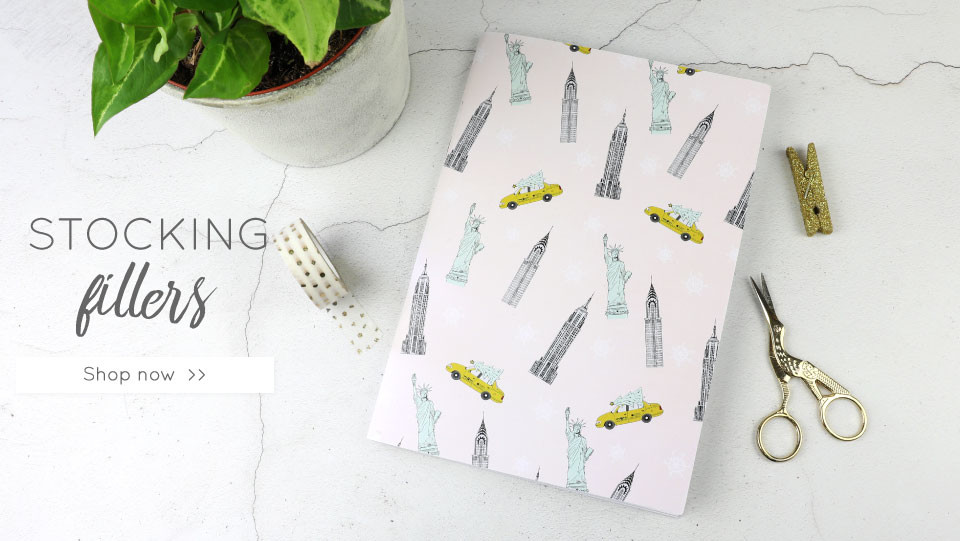 New York Illustrated notebook - shop stocking fillers >>
