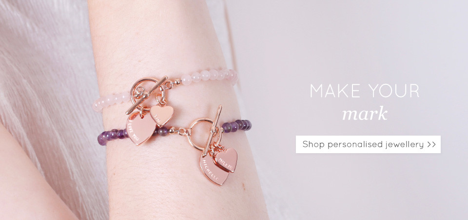 Shop personalised jewellery - Discover hand-stamped and engraved jewellery >>