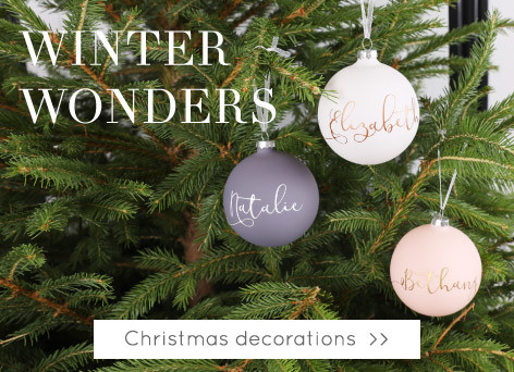 Christmas decorations - Shop Christmas baubles and decorations >>