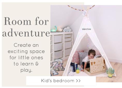 Children's bedroom decor - Shop kids home accessories >>