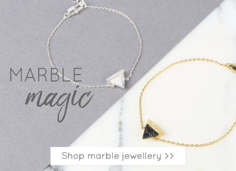 Marble jewellery - On trend marble stone jewellery >>