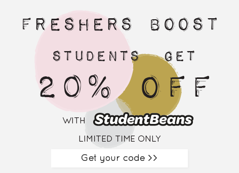 20% off student discount - Student beans student discount >>
