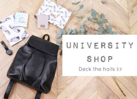 University shop - Shop freshers homeware and jewellery >>