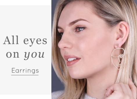 Statement abstract face earrings - Shop earrings >>