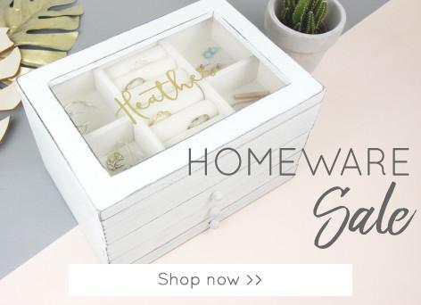 Personalised jewellery box - Shop homeware sale >>