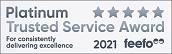 Feefo Platinum Trusted Merchant 2020