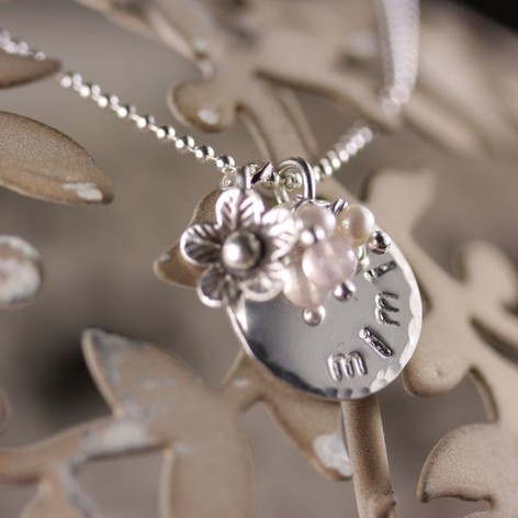 Personalised Flower Charm Necklace