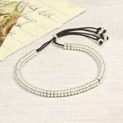 Estella Bartlett Delicate Links Friendship Bracelet in Black