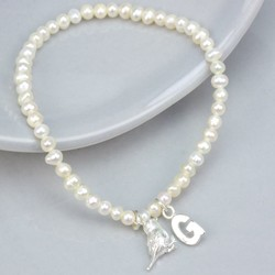 Personalised Seed Pearl Songbird Bracelet