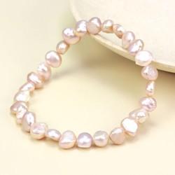 Vintage Pink Freshwater Pearl Stretch Bracelet