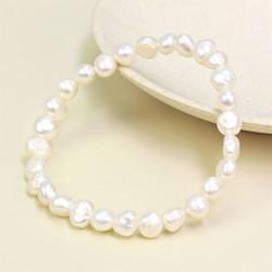 Ivory Freshwater Pearl Stretch Bracelet