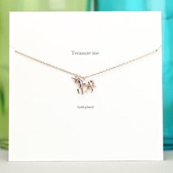 Estella Bartlett 'Treasure Me' Rose Gold Unicorn Necklace