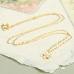 Estella Bartlett 'Enjoy The Little Things' Gold Star Necklace
