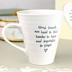 East of India 'Good Friends' Boxed Mug