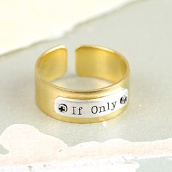 The Dreamer's 'If Only' Identity Band Ring in Gold