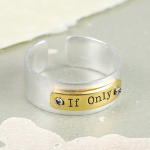 The Dreamer's 'If Only' Identity Band Ring in Silver