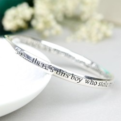 Silver 'Son' Meaningful Word Bangle