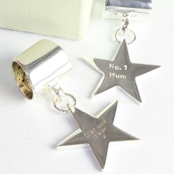 Personalised  Star Scarf Ring