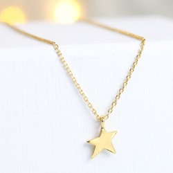 Gold Asymmetric Star Necklace