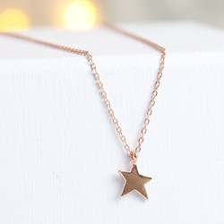 Rose Gold Asymmetric Star Necklace