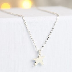Silver Asymmetric Star Necklace