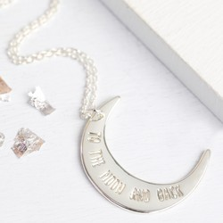'To The Moon and Back' Silver Necklace
