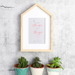 Wooden House Photo Frame