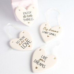 Sentimental Quote Hanging Heart