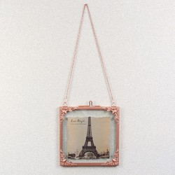 Square Hanging Filigree Copper Frame