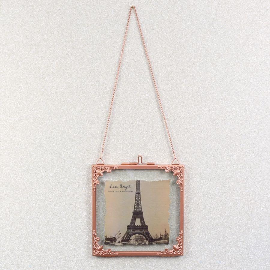 Square Hanging Filigree Copper Frame