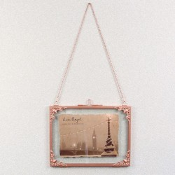 Small Rectangular Hanging Filigree Copper Frame