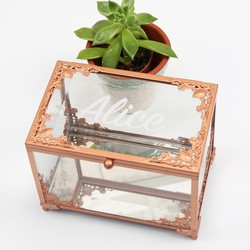 Personalised Copper & Glass Jewellery Display Box