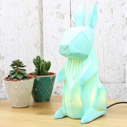 Disaster Designs Nordikka Green Origami Rabbit Lamp