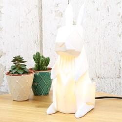 Disaster Designs Nordikka White Origami Rabbit Lamp