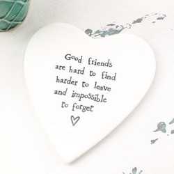East of India 'Good Friends' Porcelain Coaster
