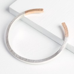 Silver Dipped in Rose Gold Bar Bangle