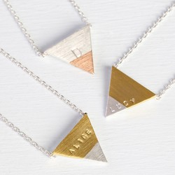 Personalised Dipped Triangle Necklace