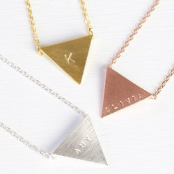 Personalised Geometric Triangle Necklace