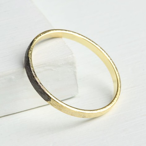 Black & Gold Dipped Band Ring