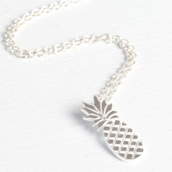 Silver Pineapple Pendant Necklace