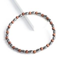 Handmade Men's Hematite Bead Bracelet