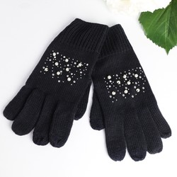 Navy Pearl Touch Screen Gloves
