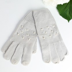 Grey Pearl Touch Screen Gloves