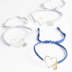 Personalised Heart Outline Friendship Bracelet