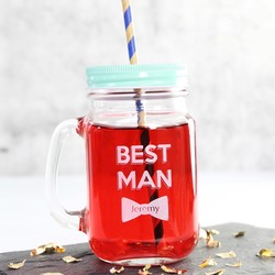 Personalised 'Best Man' Mason Jar