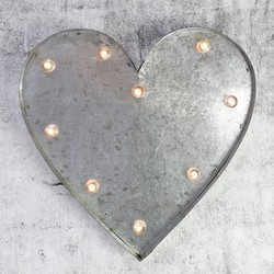 Industrial Heart with LED Lights