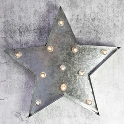 Industrial Metal Star with LED Lights